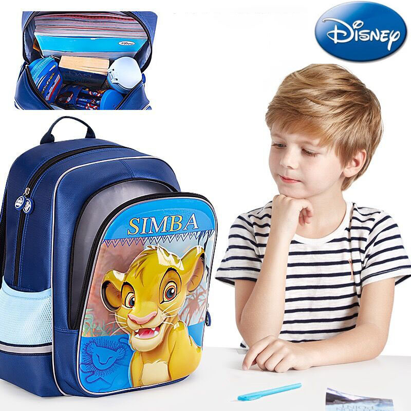 Disney Toy Backpack School-Bag Simba Birthday-Gifts Lion King Boys Cartoon Genuine Girls