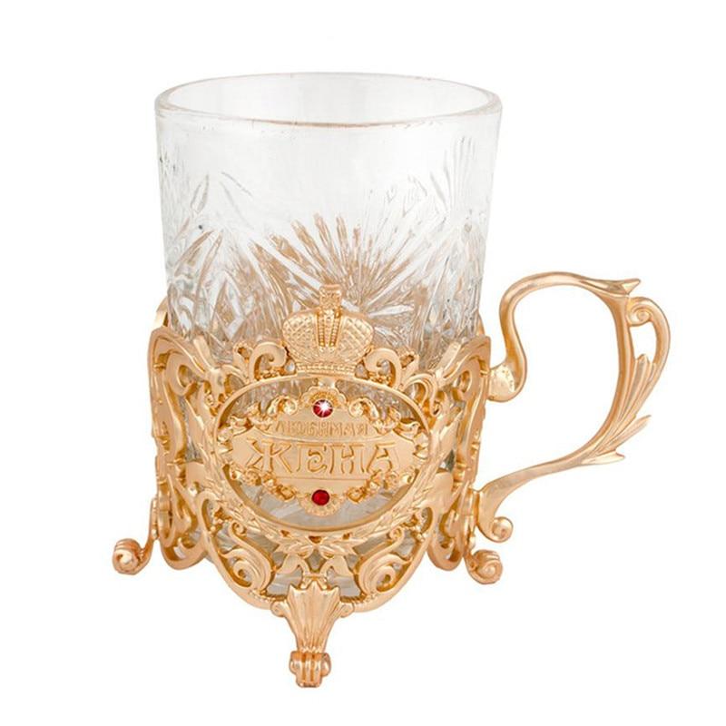 Creative binary mug gift box zinc alloy inserts Portable  travel cups wine tea Classic King cup commemorate