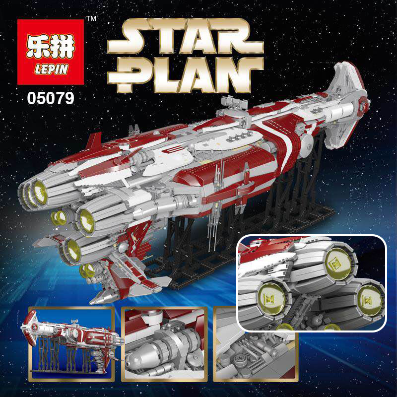 Лепин 05079 7956 шт. Star серии план legoingly MOC Зенит Old Republic эскорт cruiser строительные блоки кирпичи подарки для детей