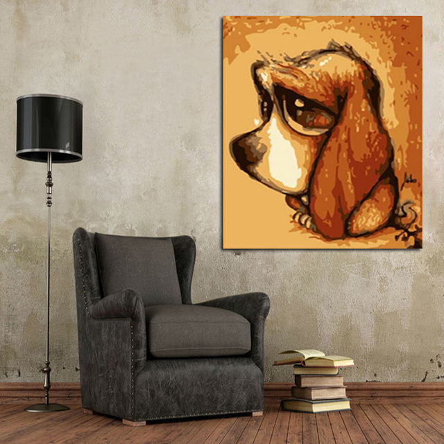 Nice New Design Best Abstract Art Unique Animal Pictures High Quality Handmade Living  Room Little Doggy Oil Part 30