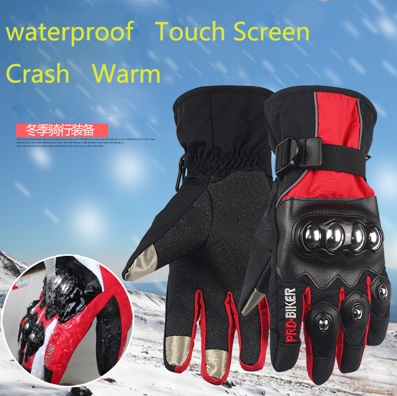 Touch Screen Motorcycle Gloves Winter Warm Waterproof Windproof Motorbike Alpine Luvas Motocross Protective Gear Guantes Moto