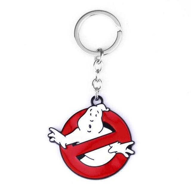 MQCHUN Movie jewelry Ghostbusters Logo cool pendant quality Glow In the Dark Belt Buckle Red Enamel Keychain for Women Men -50
