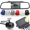 3 in 1 Car Parking Assistance System Dual-Core Parking Sensor + HD CCD Night Vision Rear View Camera Camera + 4.3 Car Monitor