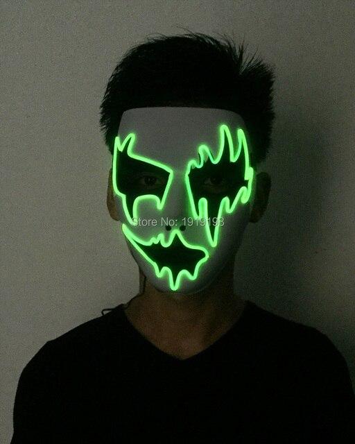 2017 neue Marke Flexible Neon Führte Streifen Cartoon Form Maske EL ...