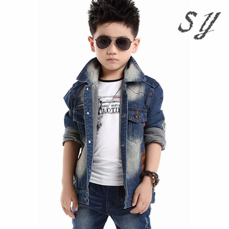 b110ae9a5 brand denim jaket children spring autumn kid boy jeans jacket cowboy ...