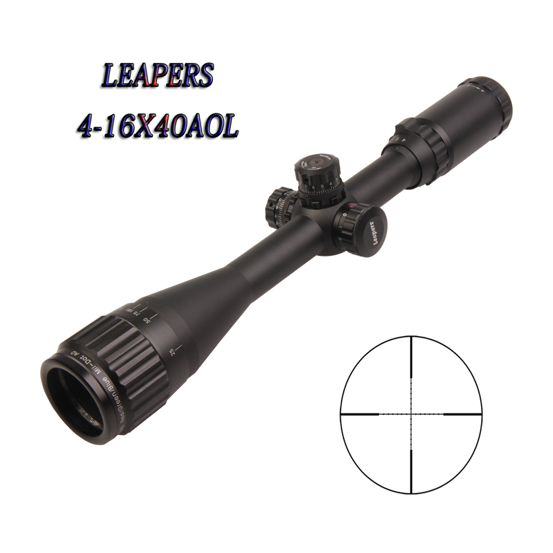 Optic Sight Leapers  4-16X40 Optical Sight Airsoft Chasse Rifles For Hunting Leapers Scope Airsoft Gun Luneta Para Rifle Caza optic sight leapers 4 16x40 optical sight airsoft chasse rifles for hunting leapers scope airsoft gun luneta para rifle caza