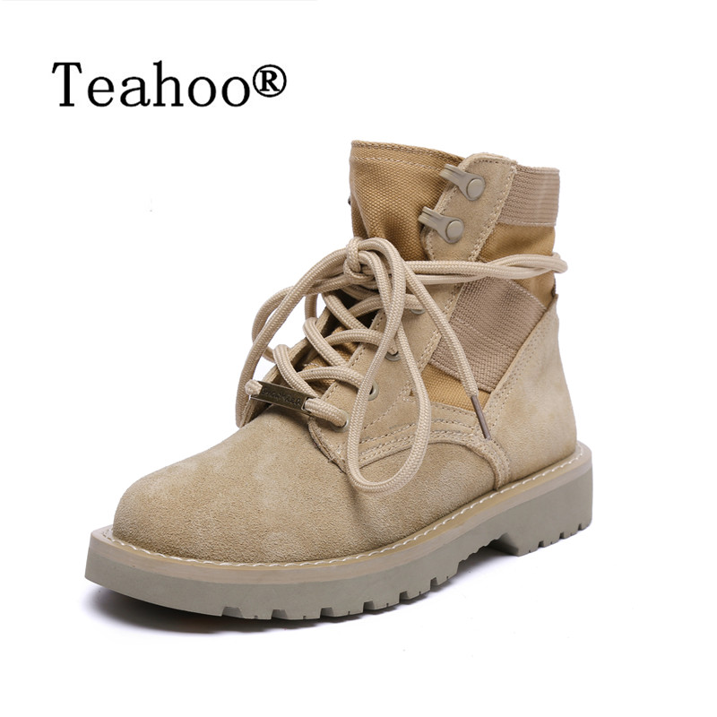 2017 Fashion Women Boots Winter Lace Up Genuine Leather Classic Shoe High Top Flat Suede Brand Casual Shoes Boots zapatos mujer front lace up casual ankle boots autumn vintage brown new booties flat genuine leather suede shoes round toe fall female fashion
