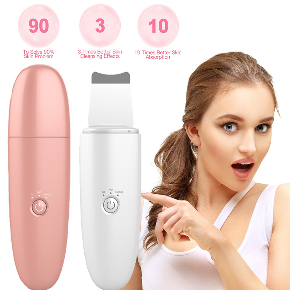 Ultrasonic Skin Scrubber Face Blackhead Dirt Remove Sonic Deep Face Cleansing Exfoliator Facial Lifting Whitening Machine