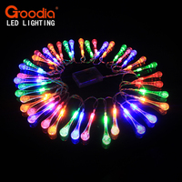 40 LED AA Batteries Water Drop String Lights LED Fairy Light For Wedding Christmas Party Festival