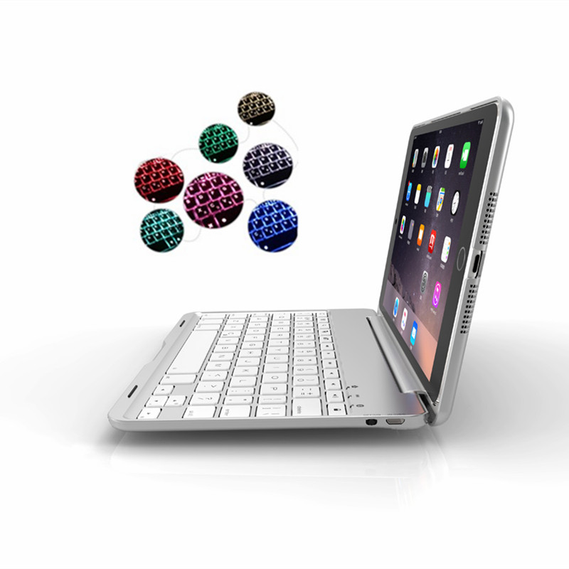 For iPad Mini1/2/3 7 Colors Backlit Bluetooth Keyboard Case Cover for iPad Mini 1 Mini 2 Mini 3 Foldable Stand Tablet Smart Case