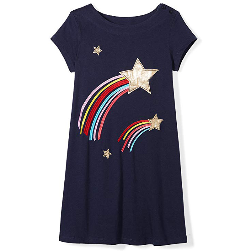 2019 Summer time Lady Gown Informal Children Clothes For Women Clothes Animal Embroidery Kids Garments Princess Cotton Costume