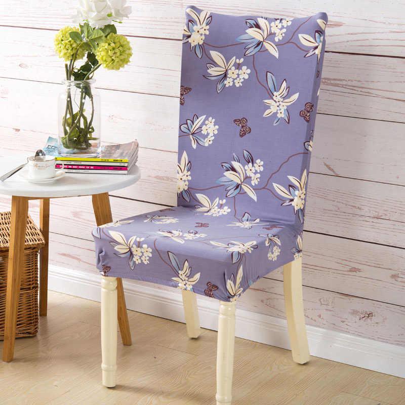 Floral flor de Ameixa Trecho Tampa Da Cadeira Elástica Bonita Anti-sujo Protector Tampa de Assento para o Banquete de Casamento Decoração de Casa