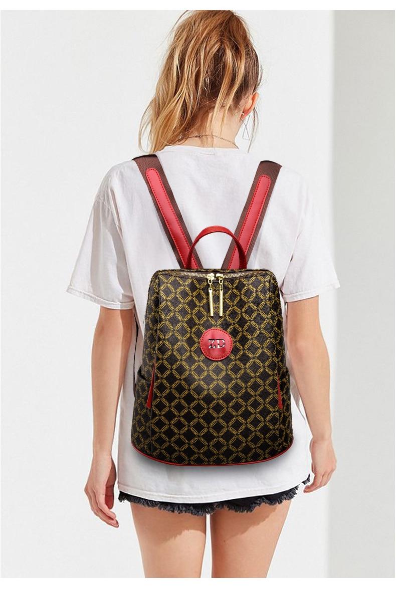 couro feminino bolsa de ombro à prova