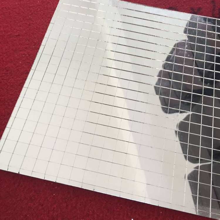 Argento Decorativo Craft Mattonelle di Mosaico Rimovibile Festa Specchio Adesivi POHOVE Autoadesivo Mini Quadrato Vetro Free Size