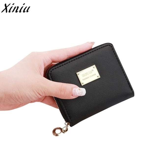 0fc08b35 Wallet Candy Color Leather Zip Small Fresh Short Wallet Women Card Holder  Clutch Girl Purse carteira Monederos Para Mujer #6227