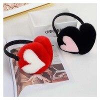Ms MinShu Real Fur Earflap Girl Earmuffs Woman Rabbit Fur Earmuff Christmas Gift Cute Ear Warmer