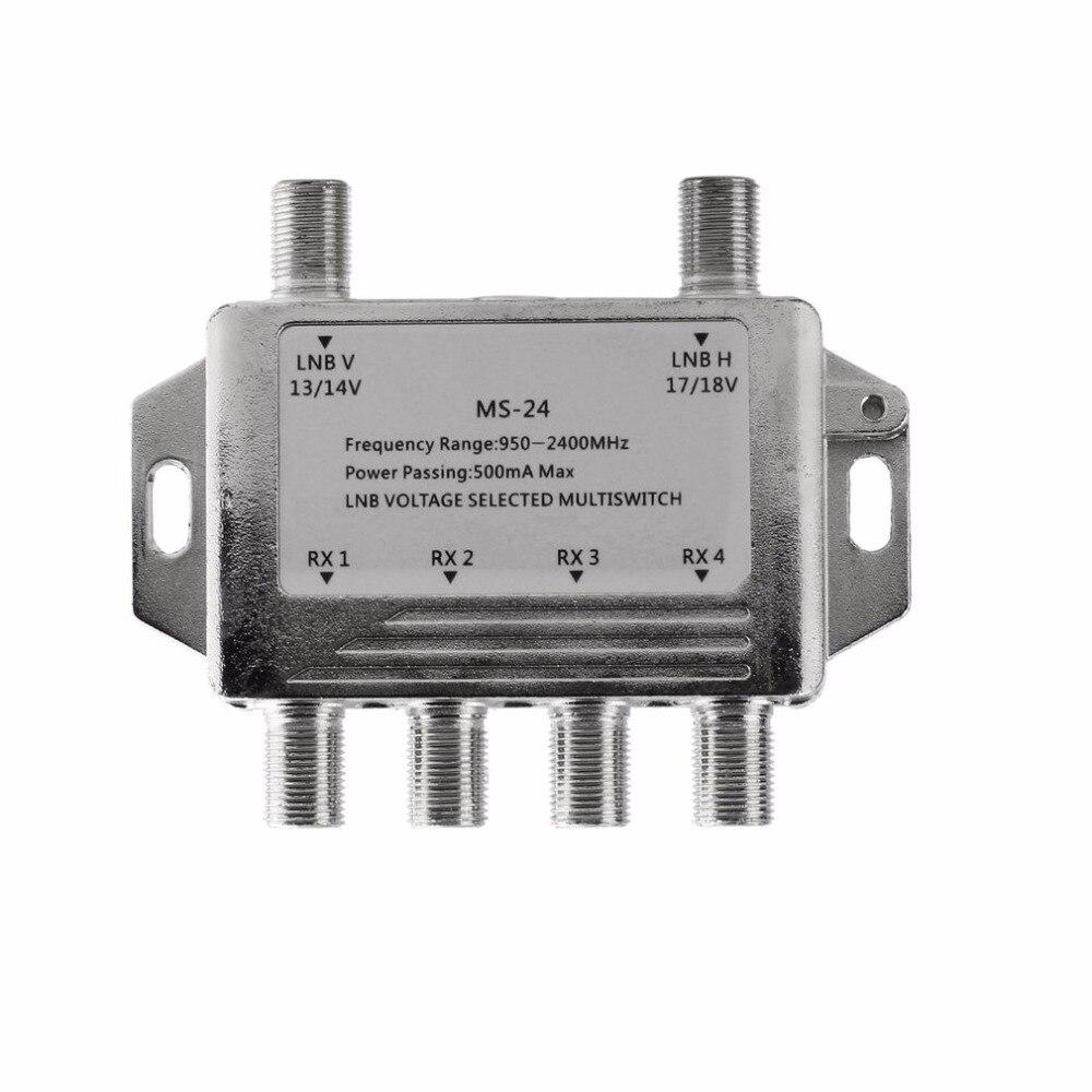Mini Tragbare 2x4 Satellite Signal Multischalter LNB Spannung Ausgewählt 950-2400 mhz Multischalter LNB Empfänger Multischalter