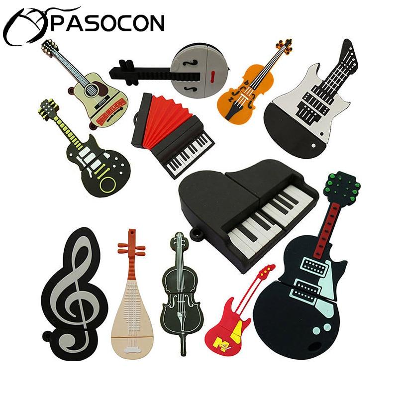 USB Flash Drive Musical Instrument Guitar Pendrive Musical Personalizado 3.0 4GB 8GB 16GB 32GB 64GB Memory Stick USB Flash Card