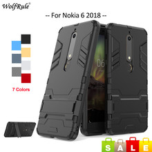 hot deal buy for fitted cases nokia 6.1 case soft tpu silicone & pc holder bumper for nokia 6 2018 phone case for nokia 6.1 2018 cover 5.5''