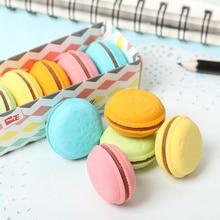 5 PCS Cute Kawaii Colorful Cake Rubber Eraser Creative Macaron Eraser For Kids Student Gift Novelty Item