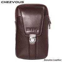 100 Vintage Genuine Leather Waist Bag Ultra Soft Pouch Case For Samsung S8 S7 S6 Note
