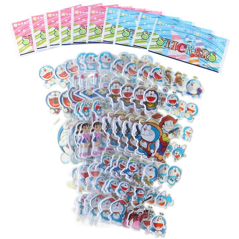 10pcs Children Stationery Sticker Cute Doraemon 3D Bubble Stickers Notebook Mobile Phone Scrapbook Kawaii Gift Decoration Decals