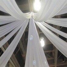 SMOPOR шифоновая драпировка потолочная для свадьбы, памятные события украшение для банкета и вечеринки