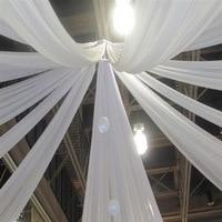 SMOPOR wysokiej jakości szyfonowe zasłony sufitowe na wesela imprezy bankietowe dekoracje świąteczne w Firany od Dom i ogród na