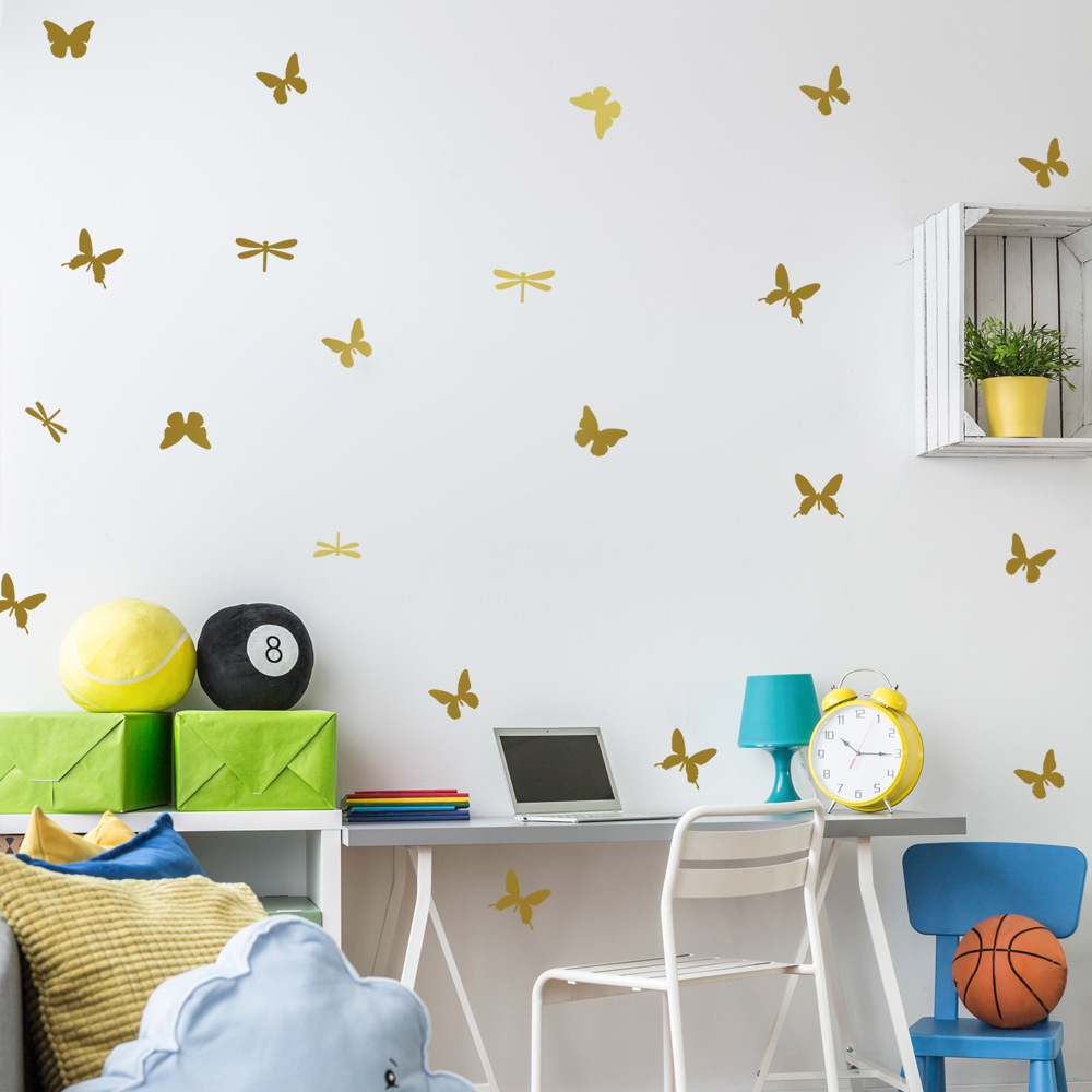 popular dragonfly wall stickers buy cheap dragonfly wall stickers nordic style butterfly dragonfly wall sticker home decor creative animal wall stickers for kids bedroom butterfly