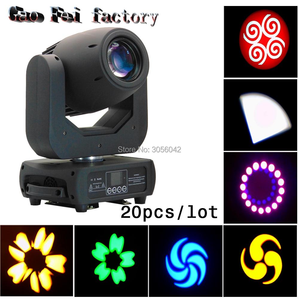 20pcs/lot Zoom Projector DJ Stage Light 150W LED Moving Head Spot Gobo Ligh hot 19 26 36 50 degree lens for led ellipsoidal gobo projector light 150w led color profile spot light leko lens
