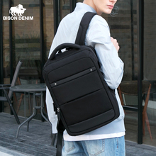 BISON DENIM Fashion Mens Backpacks 15 inches Laptop Backpack For Teenager Travel Bags Mochila Anti Theft School Bag N2744