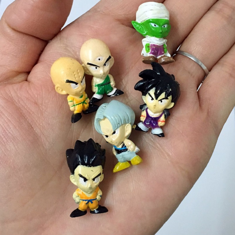 Random 15pcs Dragon Ball Z Action Figure Mini Figurine Goku Vegeta Trunks Piccolo Vinyl Desk Decoration Dragon Ball figure 2.5cm b1a4 7th mini album rollin random cover release date 2017 09 28