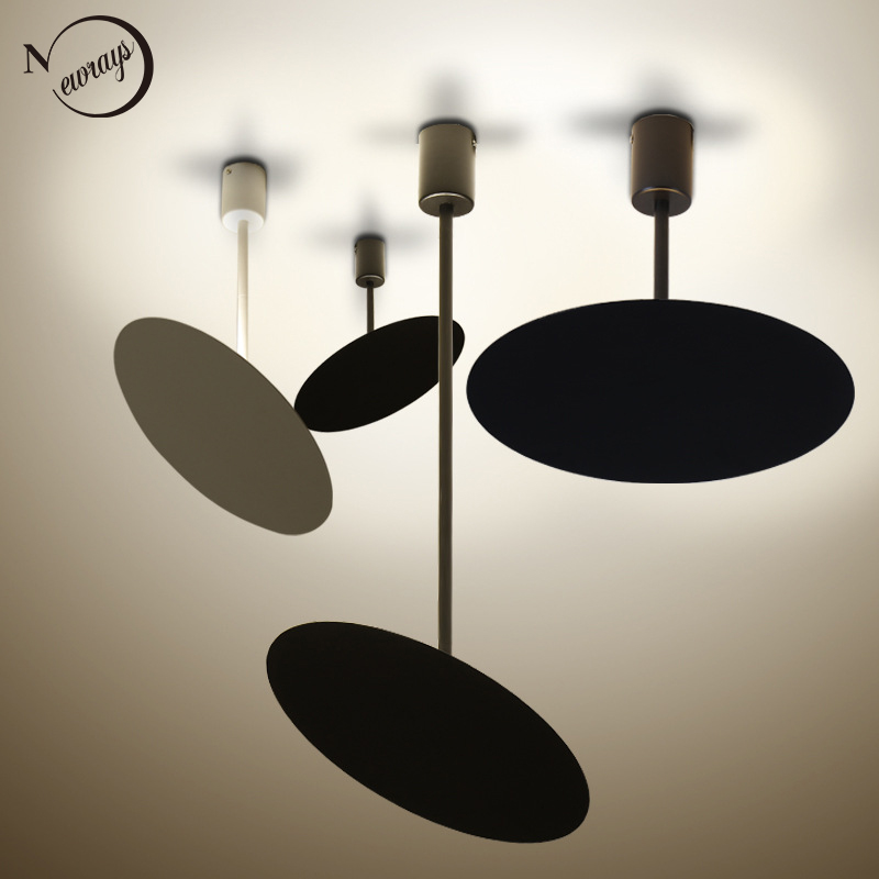 Art deco Modern brief black white LED Pendant Lights adjustable minimalist for restaurant bar cafe office bedroom living room modern minimalist creative personality pendant lights of restaurant bar bedroom pendant lamp office art pendant light