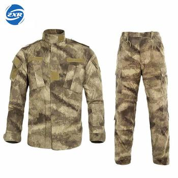 Mens Ghillie Suits Tactical Combat Uniform Camouflage Hunting Suit Wargame Paintball Army Cotton Polyester Clothing Jacket Pants