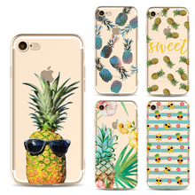 Yellow Pineapple Phone Cases for iphone 6 6s 6Plus 7 7s 7plus Soft Slim TPU Soft New Interesting Mobile Phone Cover Case
