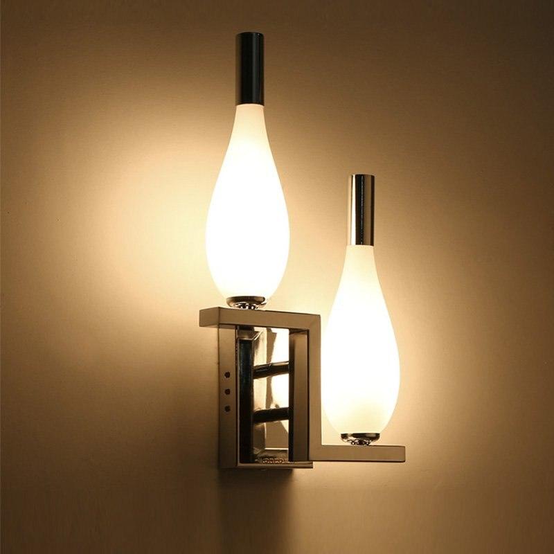 Здесь продается  Modern Bedroom Wall light Stair two Glass Bottles Wall Lamp Hallway Bar Counter gallery Bathroom Wall lamp Fixture  Свет и освещение