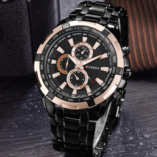 CURREN new watches men top luxury brand Quartz Fashion casual Wrist watch mens Waterproof full steel mens sports watches clock cheap Fashion Casual Folding Clasp with Safety 3Bar Alloy 23cm Hardlex 12mm 22mm ROUND Quartz Wristwatches No package CUR8023