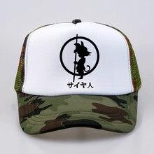 Bola de Dragón Cosplay de alta calidad de Goku de Dragon ball Z sombrero  del Snapback Hip Hop de béisbol de verano de red de mal. 8b1cea686ea