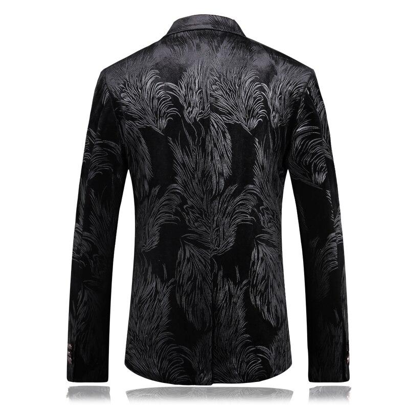 2019 mode Herren Druck Hochzeit Blazer Casual Slim Fit Prom Kleid Blazer männer Hohe Qualität Mäntel Tragen Blazer Jacke männer - 2