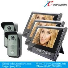 2v3 smart video camera wireless video deurbel phone 7″ LCD display 0.3MP camera support video talk & remote unlock