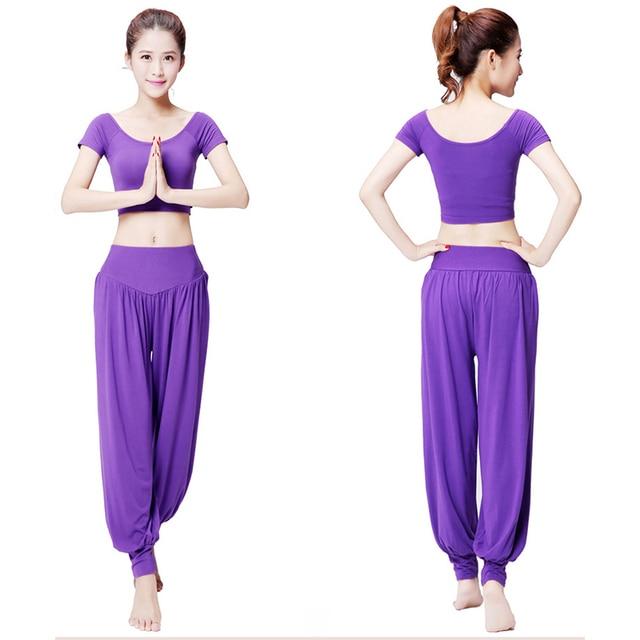 55c08a5a8e Women Yoga Pants Women Plus Size Yoga Leggings Colorful Bloomers Dance Yoga  TaiChi Full Length Pants Modal Pants Yoga Clothes