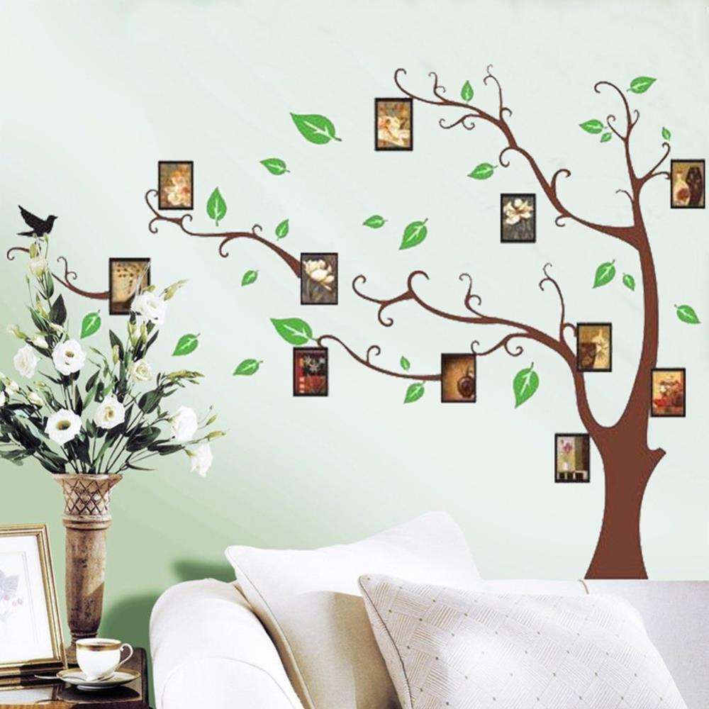 Photo Frame Green Tree Wall Sticker Mural Decals Removable
