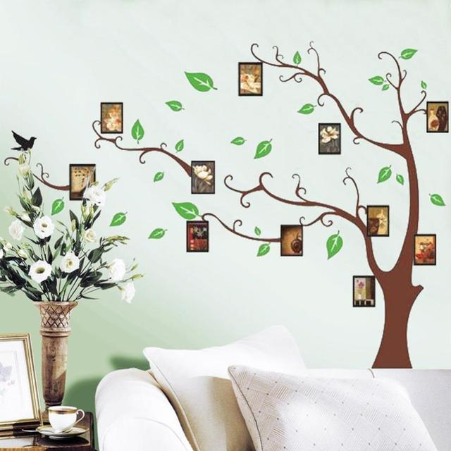 Aliexpresscom Buy Photo Frame Green Tree Wall Sticker Mural - Wall decals online india