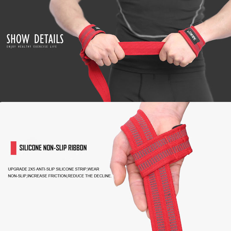 2 Pcs Gym Hand Wraps Wrist Strap Weight Lifting Wrist Wraps Gloves Cross fit Dumbbell Powerlifting Wrist Support Sport Wristband