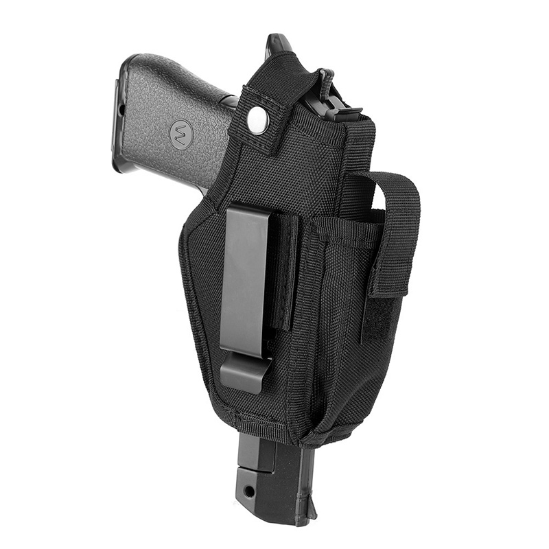 Croppable Gun Holster Concealed Belt Metal Clip Holster Airsoft Gun Bag Hunting Articles For All Sizes Handguns