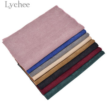 Lychee A4 Embossed Stripes Velvet Fabric Soft Sewing Fabric for Hair Accessories DIY Sewing Crafts Materials