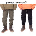 2017 NEW TOP yeezy season3 Water washing process do old Beam foot trousers kanye west pants hiphop high street clothing