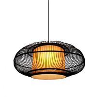 China Red fabric Pendant Light Bamboo Suspension Pendant Lamp Dia 65cm New for Parlor Dinning Room Restaurant Home Lighting G043