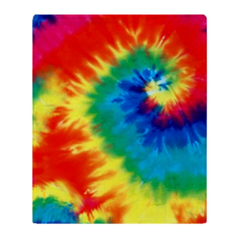Psychedelic Tie Dye Pattern Soft Fleece Throw Blanket Super Soft Printing Family Car and Sofa Throws Office Quilts