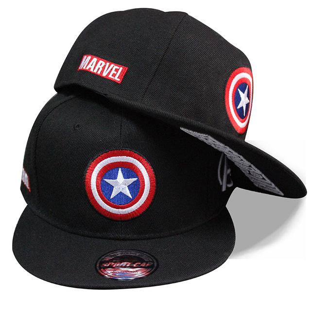 Captain America Strap back Letter Baseball Cap
